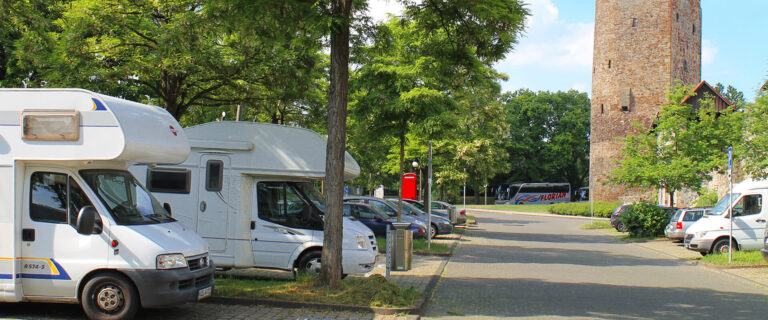 "Motorhome parking space ""Am Grauen Turm"" Fritzlar"