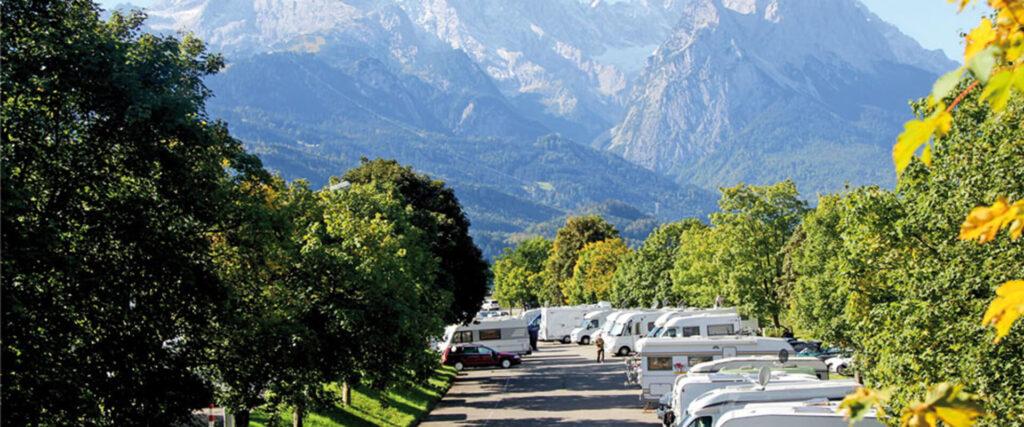 """REISEMOBIL-STELLPLATZ """"ALPENCAMP AM WANK"""" Garmisch-Partenkirchen"""