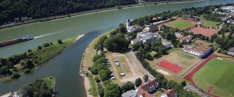 Motorhome port at the Kränchen in Lahnstein