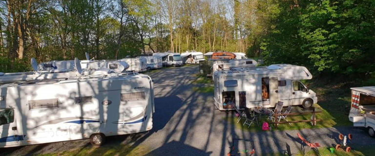 Motorhome park at the windmill