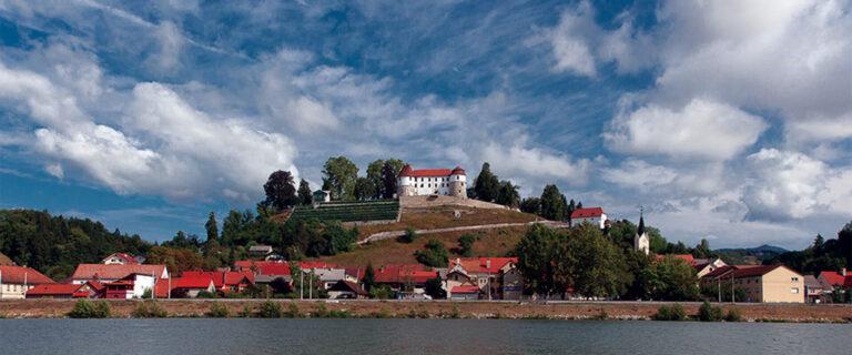 Motorhome parking space at Sevnica Castle