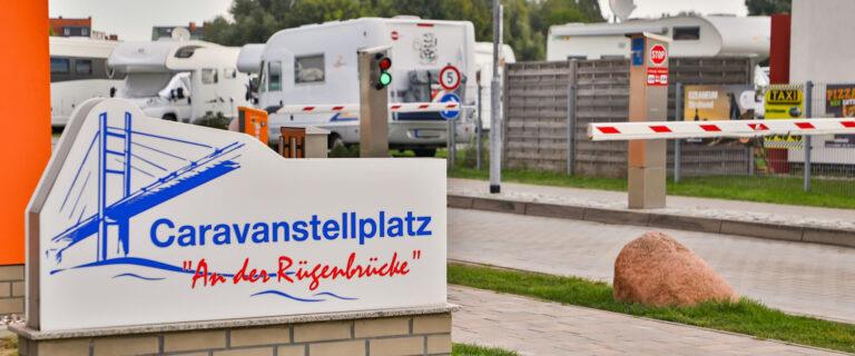 """Caravan parking space """"An der Rügenbrücke"""", Stralsund"""